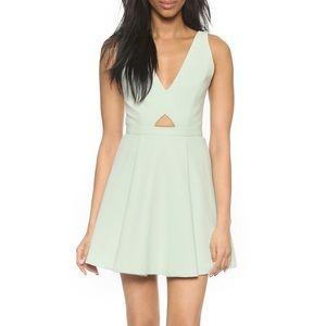 Alice + Olivia Nina Mint Green Cut Out Mesh Dress
